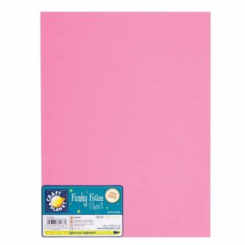 "9 x 12"" Funky Foam Sheet (2mm Thick) - Pink"