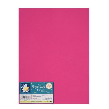 "9 x 12"" Funky Foam Sheet (2mm Thick) - Fuschia"