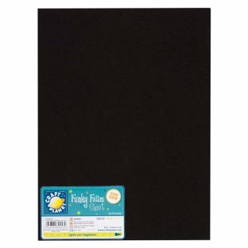 "9 x 12"" Funky Foam Sheet (2mm Thick) - Black"