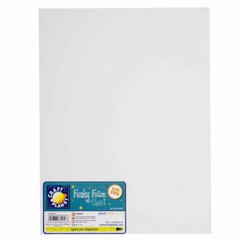 "9 x 12"" Funky Foam Sheet (2mm Thick) - White"