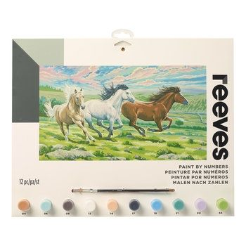 Reeves Horses Large Paint By Numbers