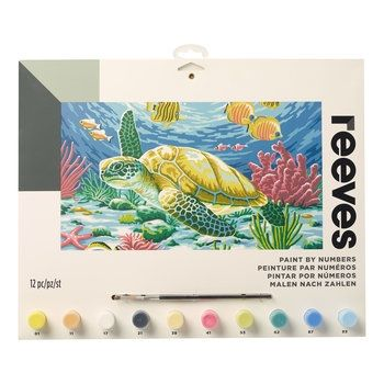 Reeves Endangered Sea Turtle Large Paint By Numbers