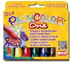 Playcolor One Standard Set 6 10gm Colour Sticks