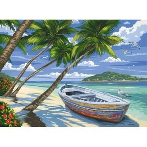 Reeves Tropical Beach Large Paint By Numbers