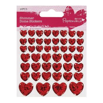 Shimmer Heart Stickers