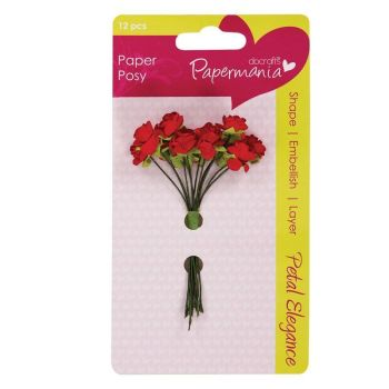 Petal Posy (12pcs) - Red Rose