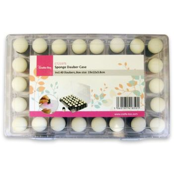 Crafts-Too Sponge Dauber Case includes 40 daubers.