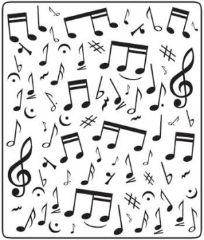 Crafts Too Embossing Folder (approx 12.5cm x 15cm) - Music Notes