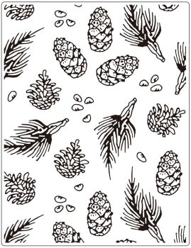 Crafts Too Embossing Folder - Pine 14.6 x 19 cm