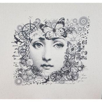Indigoblu Fabric Panel - 20cm x 20cm - Jane