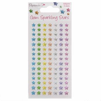 Sparkling Gems (105pcs) - Stars - Assorted Pastels