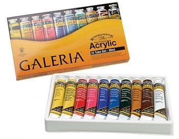 Winsor and Newton Galeria Starter set (10x20ml)