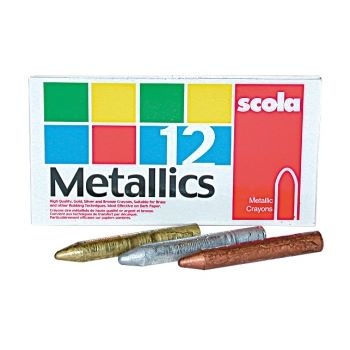 Scola 12 Metallic Wax Crayons