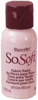 DecoArt SoSoft Fabric Paint - White