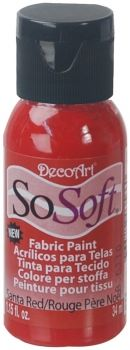 DecoArt SoSoft Fabric Paint - Santa Red