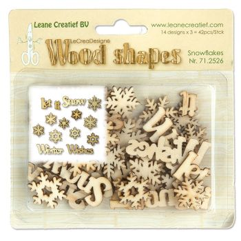 Leane Creatief Wood Shapes - Snowflakes