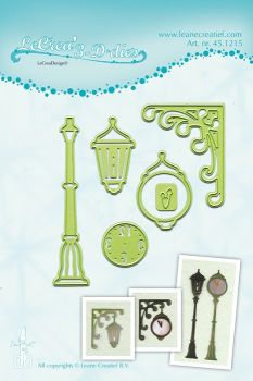 Lea-bilities Cutting and Embossing Die - Clock & Lantern