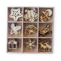 Crafts Too Wooden Elements Shapes - Christmas