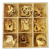 Crafts Too Wooden Elements Shapes - Wedding
