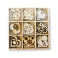 Crafts Too Wooden Elements Shapes - Love