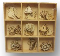 Crafts Too Wooden Elements Shapes - Sealife