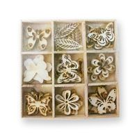 Crafts Too Wooden Elements Shapes - Butterfly