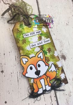 finley fox mixed media tag
