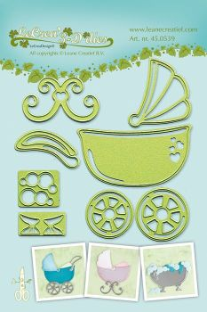 Lea-bilities Cutting and Embossing Die - Stroller, Cradle, Bath
