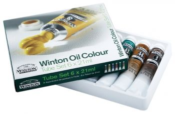 Winsor & Newton Winton 6 x 21ml Oil Colour Tube Set