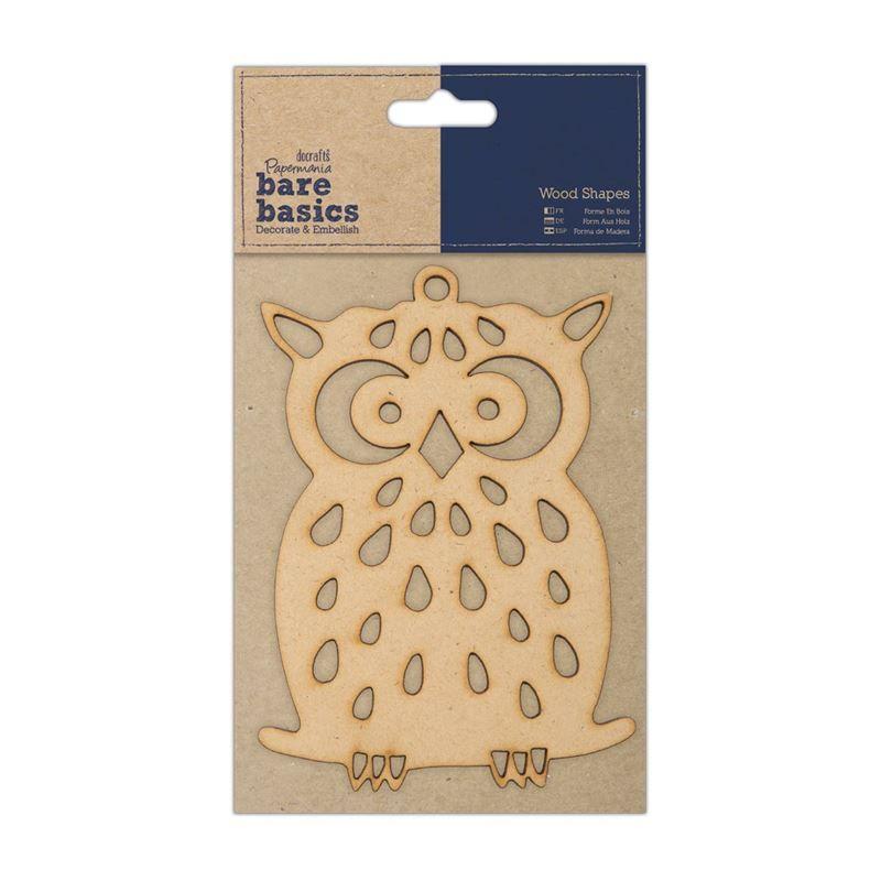Bare Basics - Wood Shapes - Owl