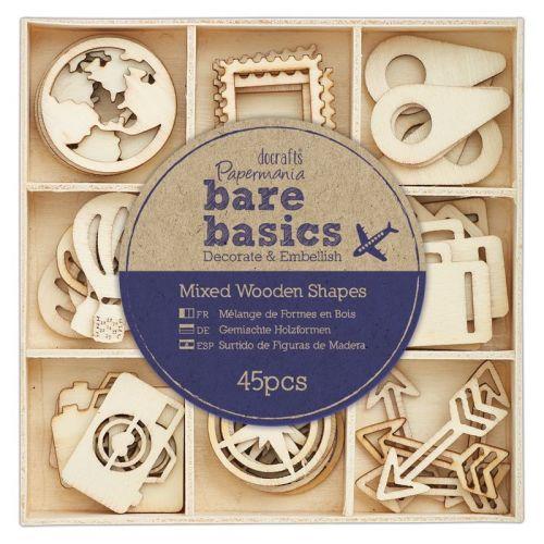 Wooden Shapes (45pcs) - Bare Basics - Travelling