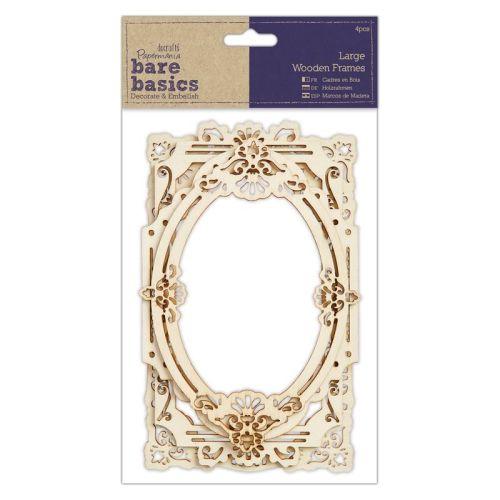 Wood Frames (4pcs) - Bare Basics - Large