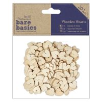 Bare Basics Wooden Hearts (200pcs)