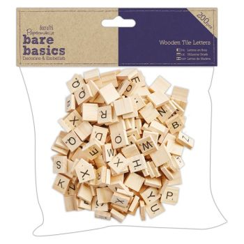 Bare Basics Wooden Tile Letters (200pcs)