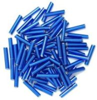 The Craft Factory Long Bugle Beads - 9mm - Royal Blue