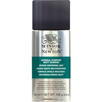 Winsor and Newton All Purpose Varnish Matt Spray 150ml