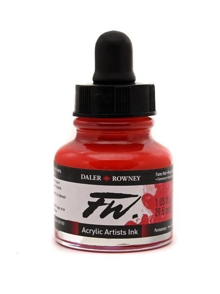 Daler Rowney Artists Acrylic Ink - Flame Red