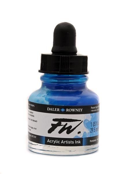 Daler Rowney Artists Acrylic Ink - Cyan