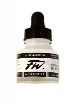 White Daler Rowney Artists Acrylic Ink - FW INK