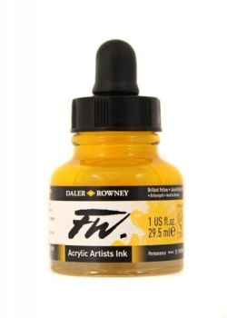 Daler Rowney Artists Acrylic Ink - Brilliant Yellow