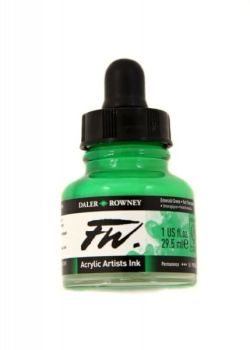 Daler Rowney Artists Acrylic Ink - Emerald Green