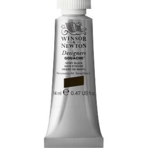 Winsor & Newton Designers Gouache - 14ml - Ivory Black