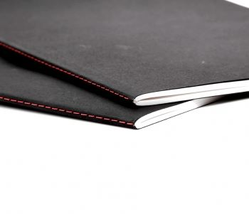A5 Soft Sketch Book 20 Sheets Cream Paper Black Cover