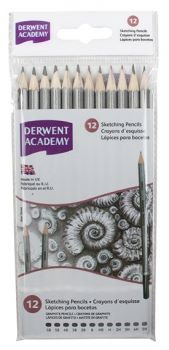 Derwent Academy Pencils 5H-6B 12 Carton Sketching