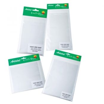 Resealable Clear View Bags C5 size 166X229mm 50's