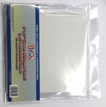 Stix2 7 x 7 White Card and Envelopes