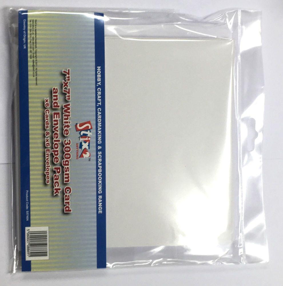 Stix2 7 x 7 White Card and Envelopes