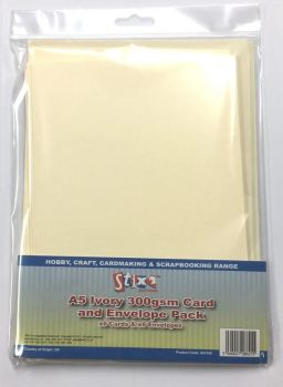Stix2 A5 Ivory 300GSM Card and Envelope