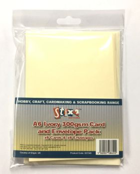Stix2 A6 Ivory 300GSM Card and Envelope