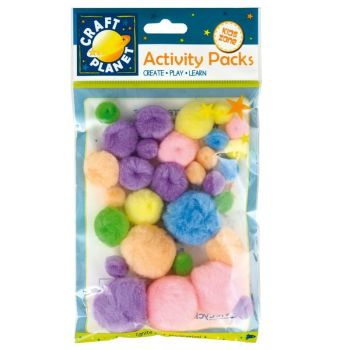 Pompoms (30pk) - Pastel Assorted Items
